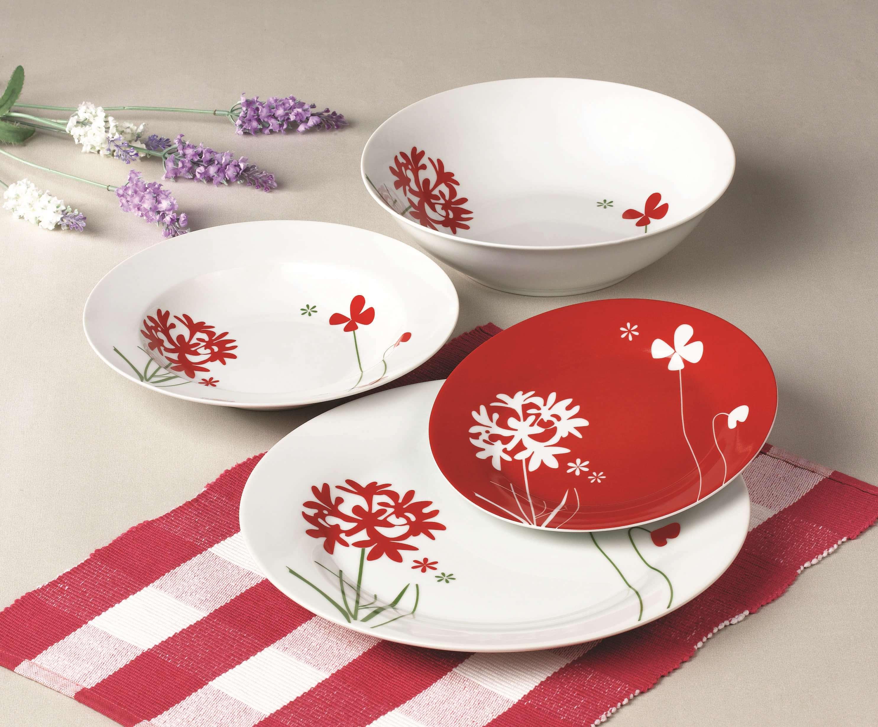 红色彼岸花餐具