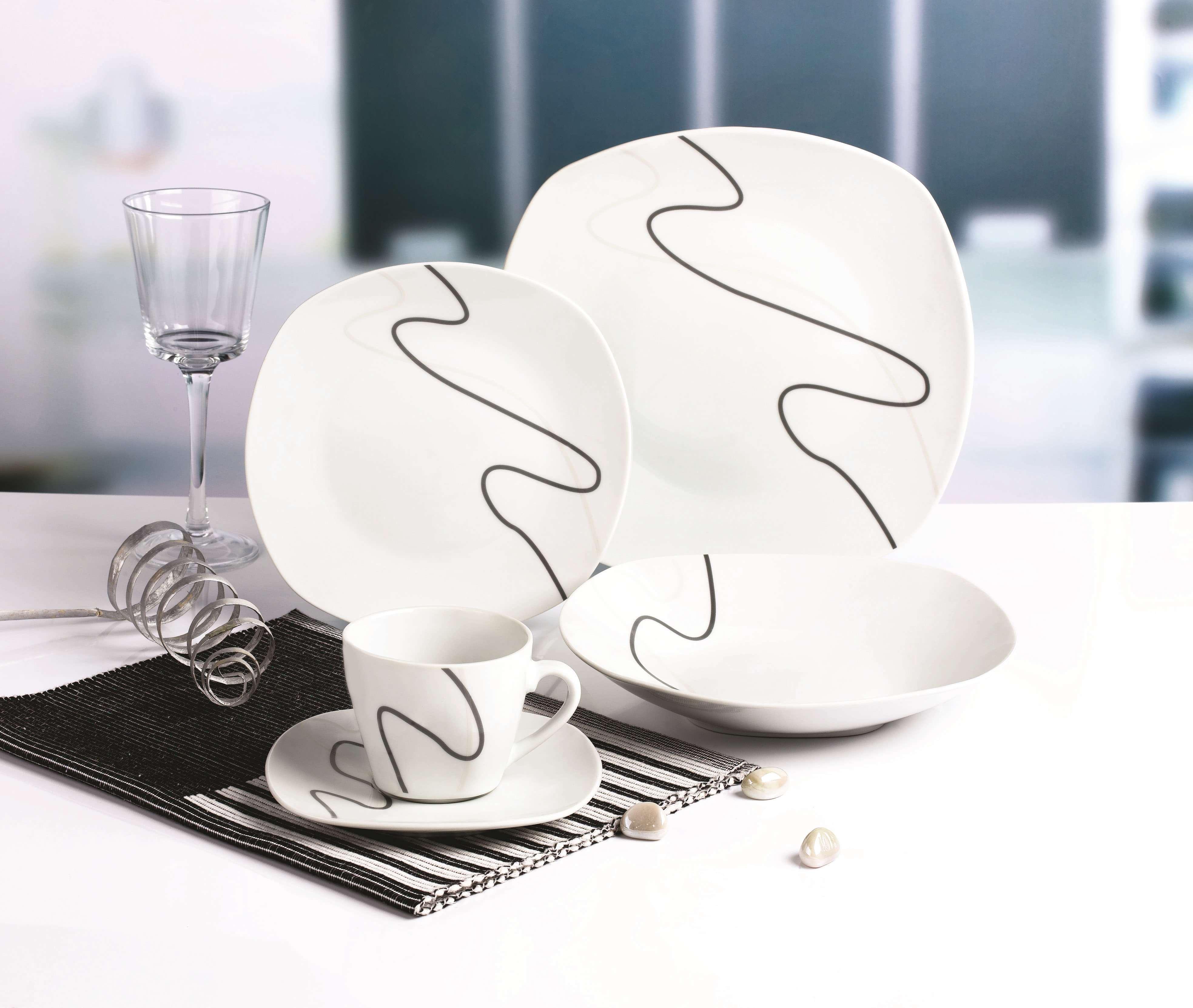 简约线条方型餐具