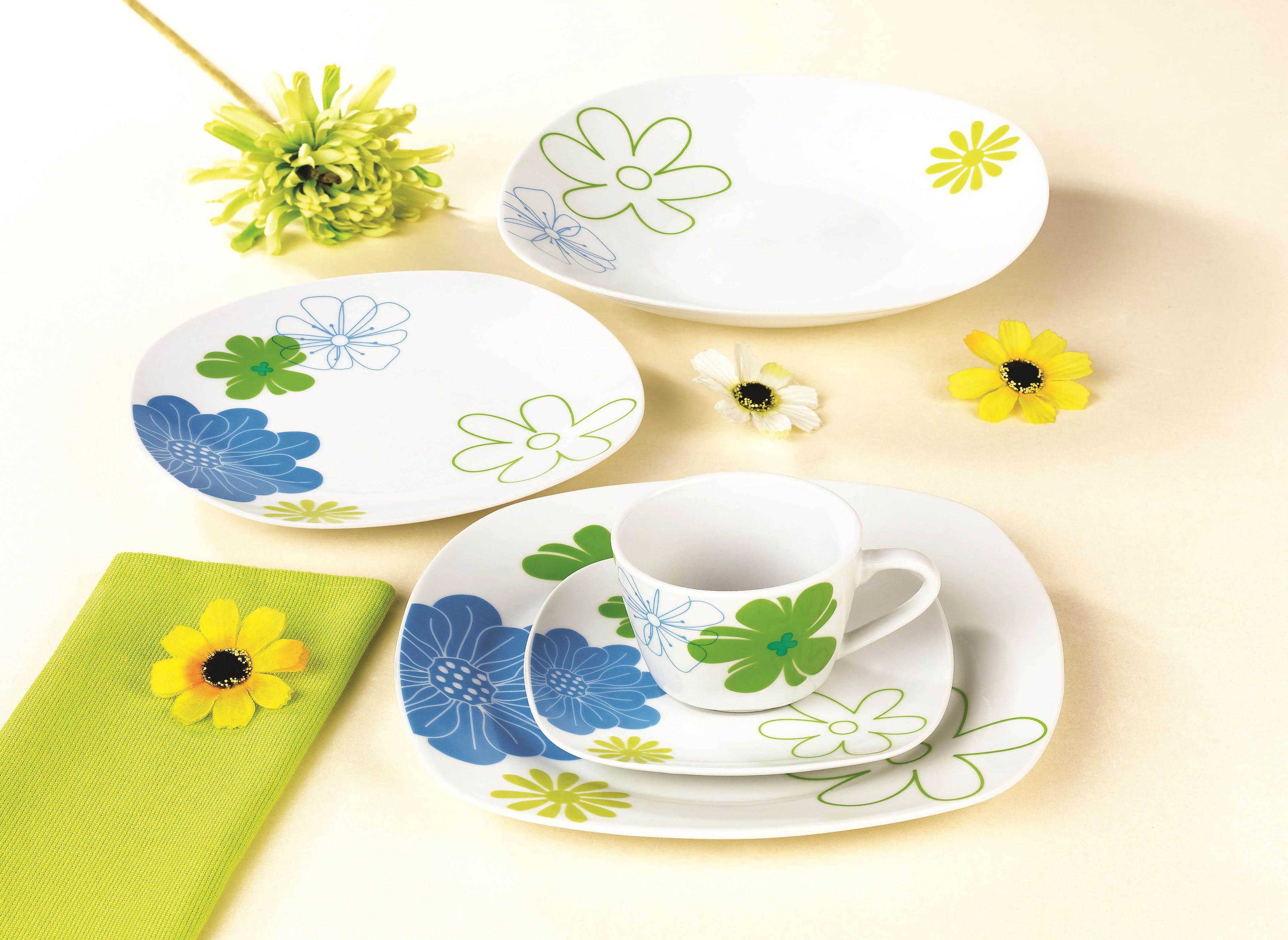 幸运花朵方型餐具