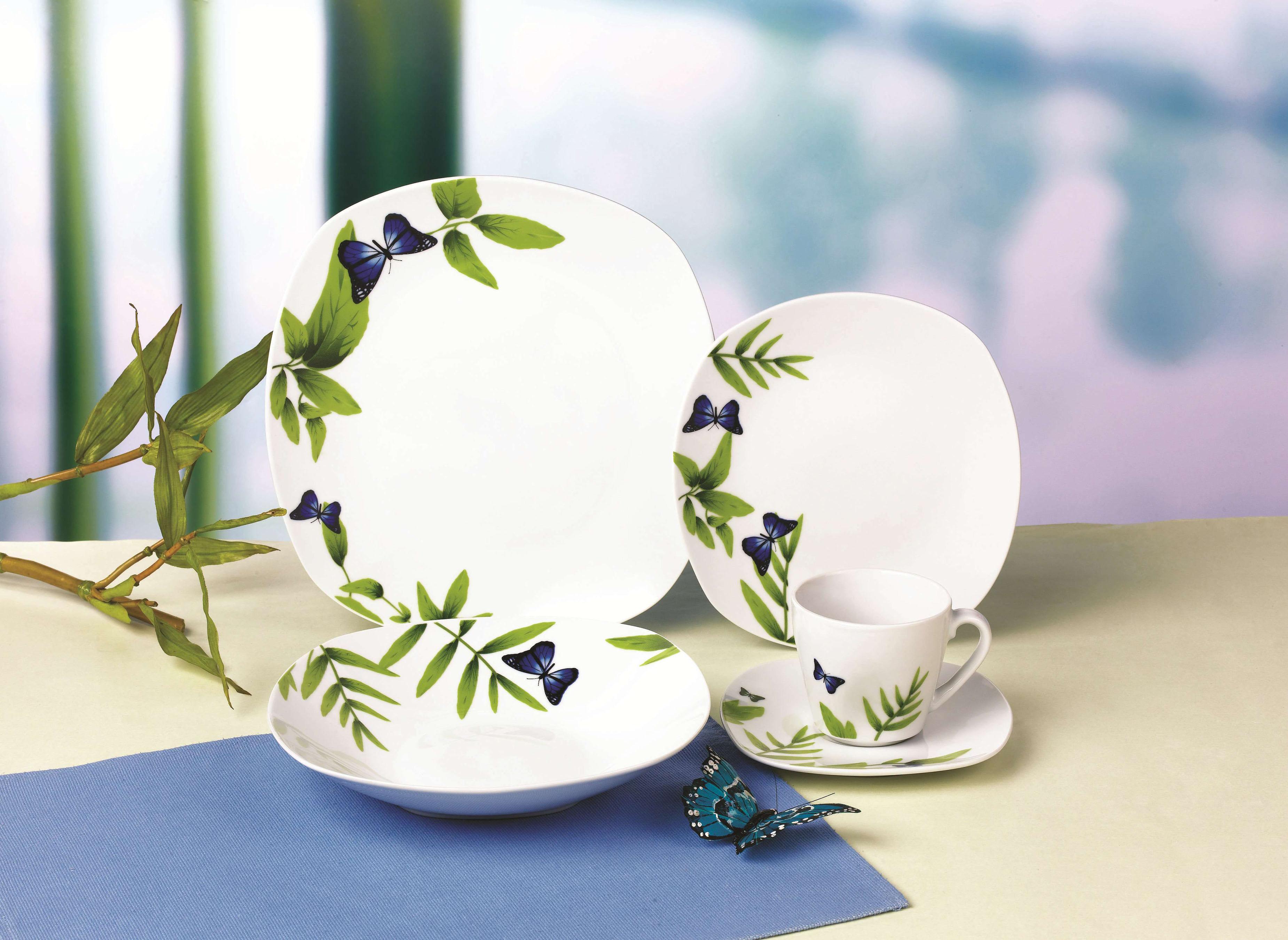 蝶恋花方型餐具