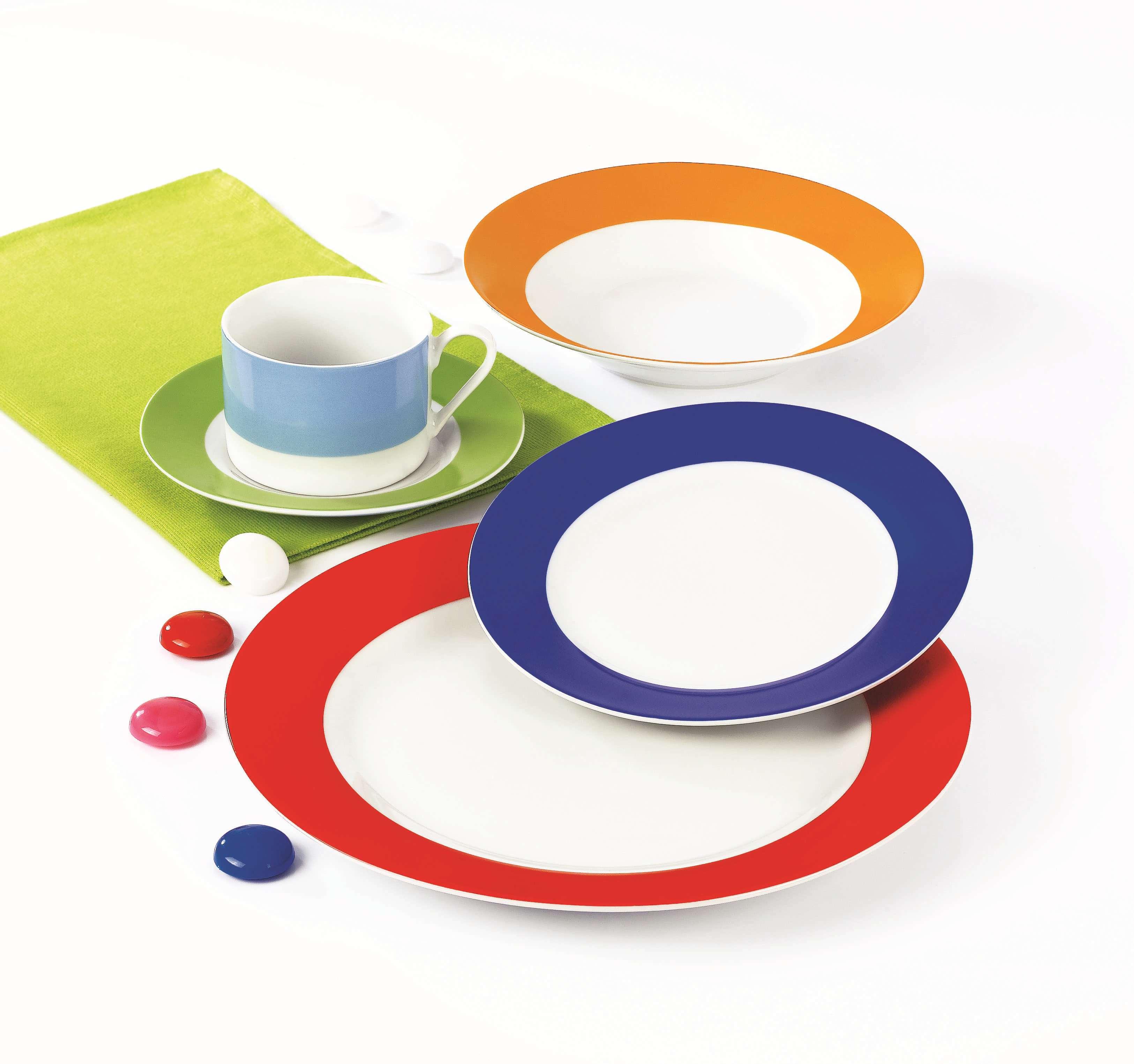 纯色圆型餐具