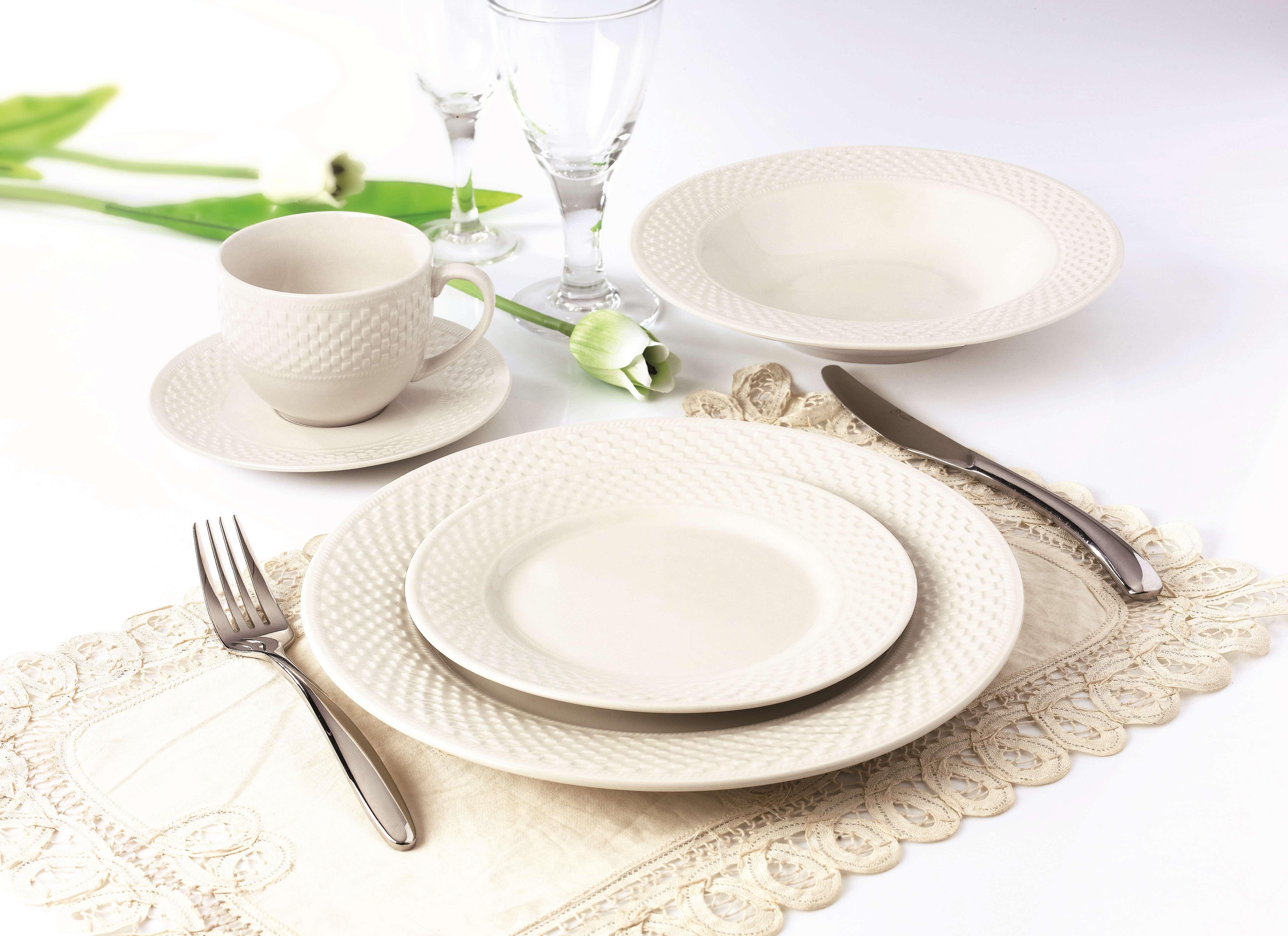 小方格浮雕餐具