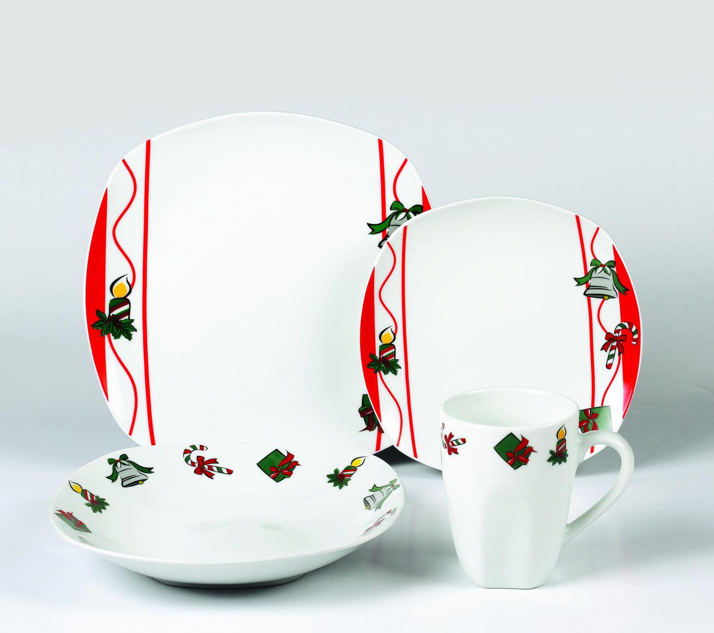 线条圣诞陶瓷餐具