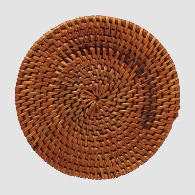 手工编织藤编茶道茶壶杯垫创意餐桌垫