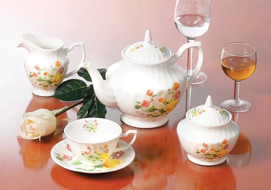 朵花陶瓷茶壶