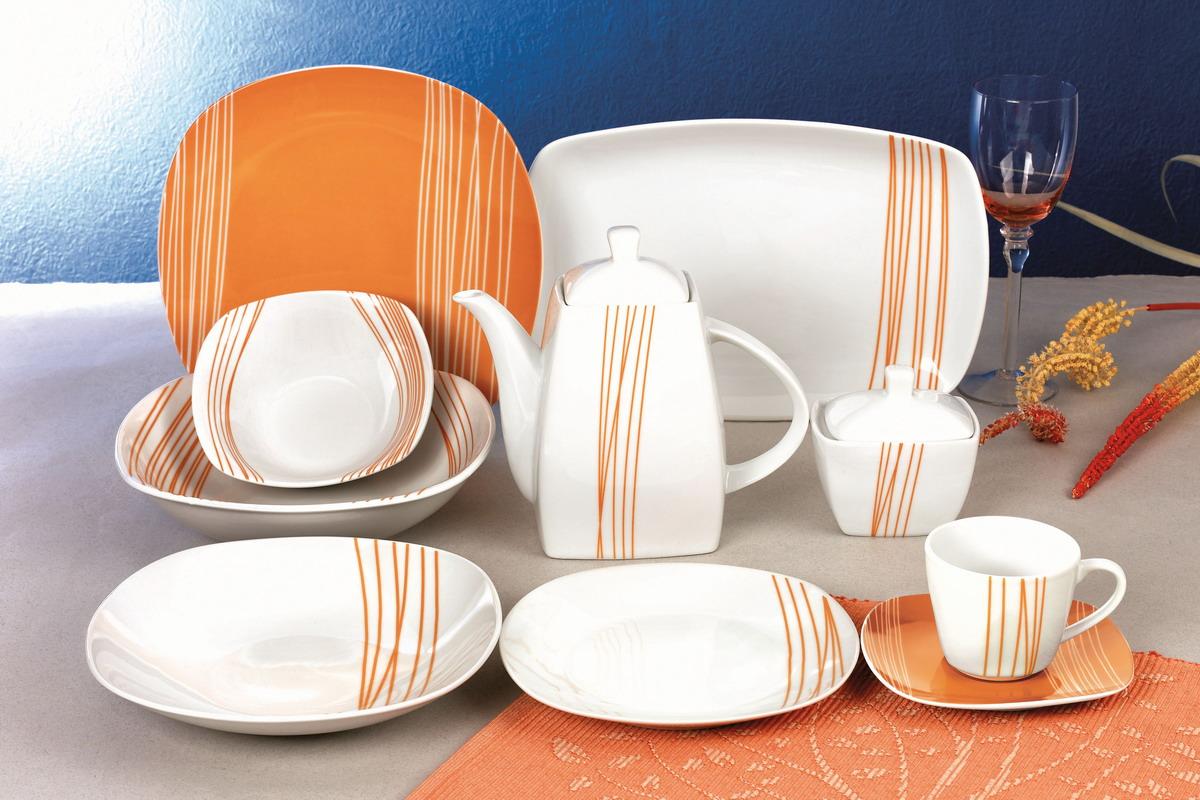 线条方形餐具