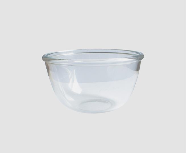 圆型厚边玻璃碗